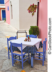 Greek terrace form the restaurant