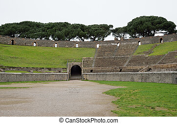 Amphitheatre of Pompeii - The Amphitheatre of Pompeii is the...