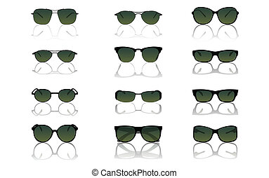 Sunglasses set, vector