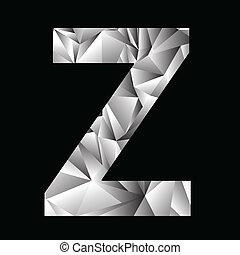 crystal letter Z - illustration with crystal letter Z on a...
