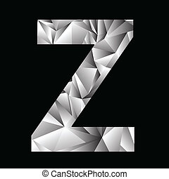crystal letter Z - illustration with crystal letter Z on a...