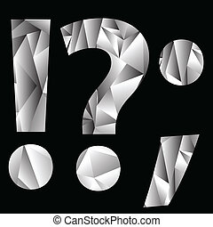 crystal question mark - illustration with crystal question...