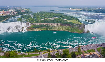 Niagara Falls view from Skylon Tower Canada High quality...