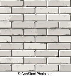 Vector Brick Wall Background Texture Pattern - Vector...