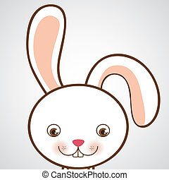 Animal design over white background, vector illustration