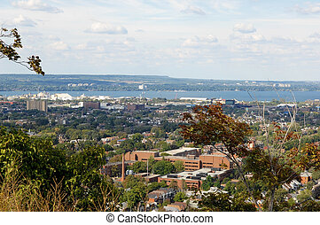 Panorama view of Hamilton, Canada. - A picture of the lower...