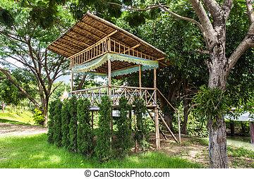 a little hut in the jungle