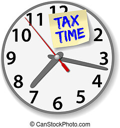 Tax Time Clock taxes due date