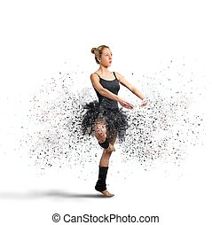 Dancer - Active dancer with motion effect during exercise
