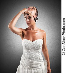 Falsity of a wife - Concept of falsity of a wife with a mask