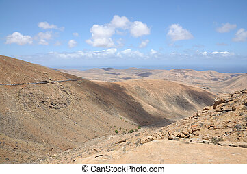 Mountains on Canary Island Fuerteventura, Spain