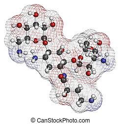 Amikacin aminoglycoside antibiotic molecule. Mostly used as...