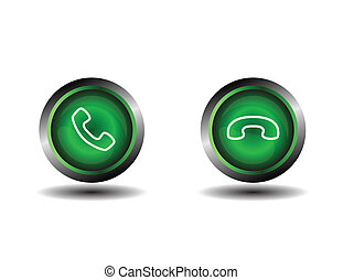 Phone icon contact button
