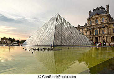 Paris - PARIS, FRANCE, August 9, 2014: The famous Louvre...