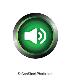 Speaker sound icon button isolated