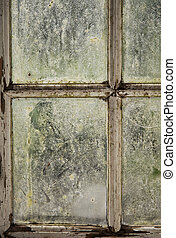 Dirty window - Image of a window with dirty glas