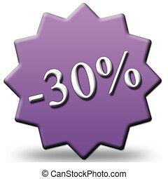 30 percent off tag