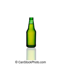 beer bottle isolated - A close up on beer bottle isolated on...