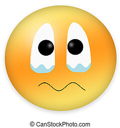 Emoticon showing eyes flooding with tears