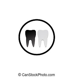 Decayed and good teeth- logo for dentist