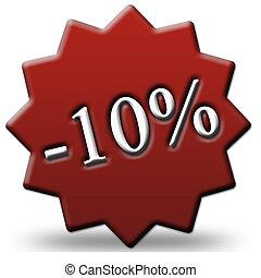 10 percent off tag
