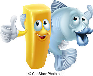 Fish and chips cartoon - Fish and chips friends cartoon...