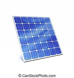 3d Solar panel - 3d render of a solar panel