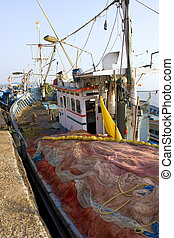 GOKARNA,INDIA - Feb 27: Indian fishing boat, India on Feb...
