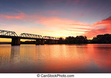 Spectacular Sunset over Nepan River Penrith - Spectacular...