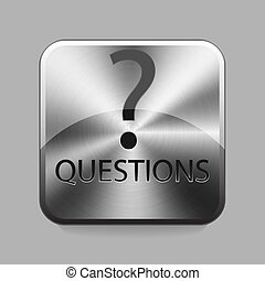 Chrome button - Questions chrome or metal button or icon...