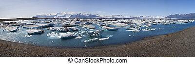 Iceberg Filled Lagoon, Jokulsarlon, Iceland