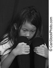 Little Girl Suffering Bullying - Little girl suffering...