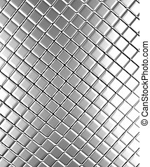 Aluminum background - Square pattern aluminum background 3d...