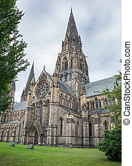 Wide angle view of St Marys Episcopal Cathedral, Edinburgh -...