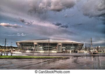 Donbass Arena Stadium in Donetsk, Ukraine. - DONETSK,...