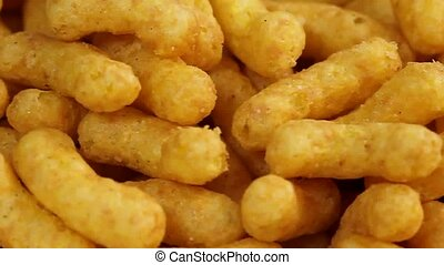 Peanut chips - Close up from peanut chips as background