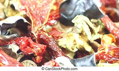 Vegetables - Dried vegetables as background