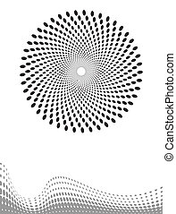 Background Composition, Web Template Halftone Vector Art