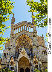Church of Sant Bartomeu in Soller - Exterior of the church...
