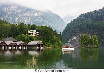 Konigssee,Bavaria,Germany - Konigssee is a lake located in...