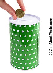 money box - green money box with australian money