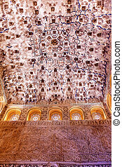 Square Shaped Domed Ceiling Sala de los Reyes Alhambra...