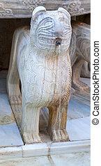 Alhambra Moorish Courtyard Lions Fountain Statue Granada...