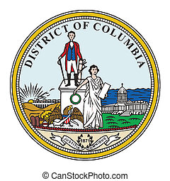 Washington DC Seal - The seal of the state of Washington DC...