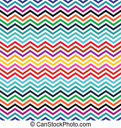 Zigzag background - Seamless colorful geometric ethnic...