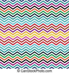 Zigzag background - Seamless colorful geometric ethnic...