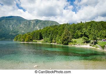 Slovenia, Lake Bohinj (Bohinjsko jezero)