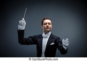 Music - Conductor on a dark background