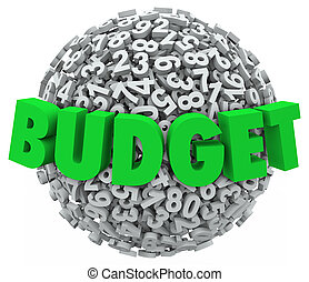Budget Word 3d Letters Number Ball Sphere Accounting Reduce Cost