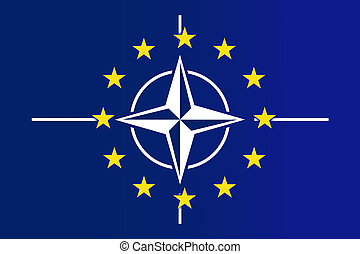 Nato and EU Flag